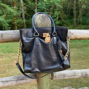 Michael Kors Large Hamilton Bag Black